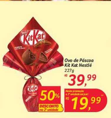 Hipermercado Big Ovo De Páscoa Kit Kat Nestlé 50% Desconto Na 2a Unidade