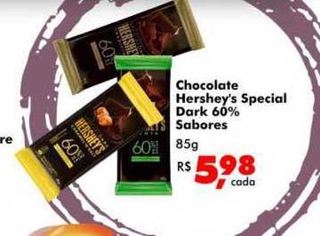 Big Box Chocolate Hershey's Special Dark 60% Sabores