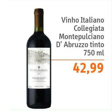 Sonda Supermercados Vinho Italiano Collegiata Montepulciano D'abruzzo Tinto