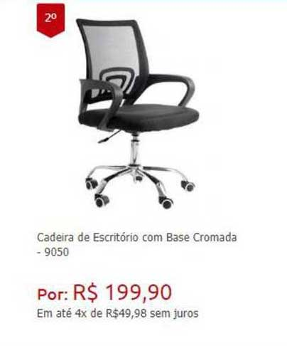 Ponto Frio Cadeira De Escritório Com Base Cromada 9050