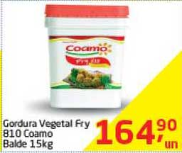 Tenda Atacado Gordura Vegetal Fry 810 Coamo Balde