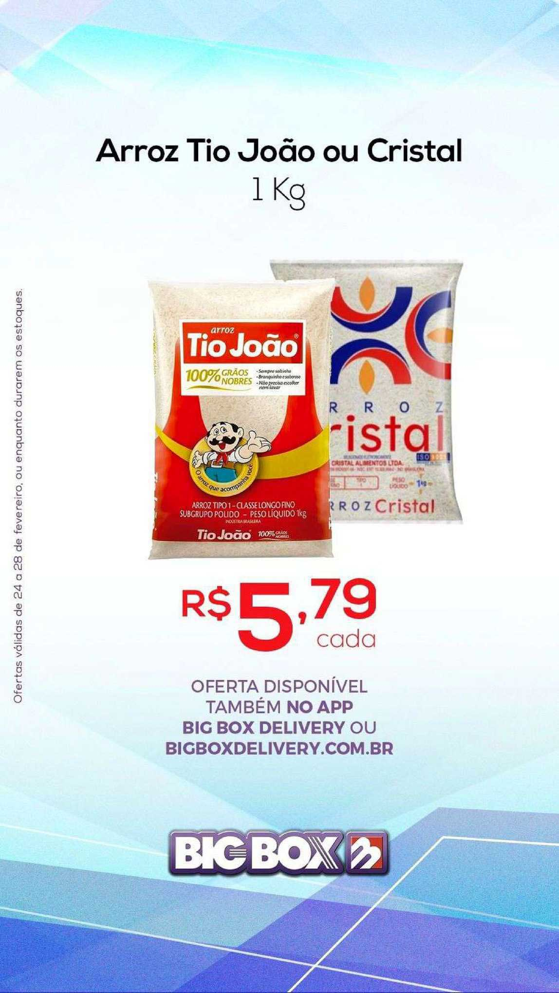 Big Box Arroz Tio João Ou Cristal