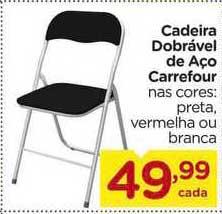 Carrefour Cadeira Dobrável De Aço