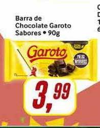 Rede Supermarket Barra De Chocolate Garoto