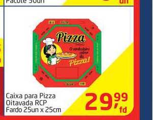 Tenda Atacado Caixa Para Pizza Oitavada Rcp