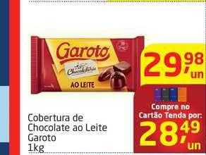 Tenda Atacado Cobertura De Chocolate Ao Leite Garoto