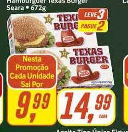 Rede Supermarket Hamburguer Texas Burger Seara